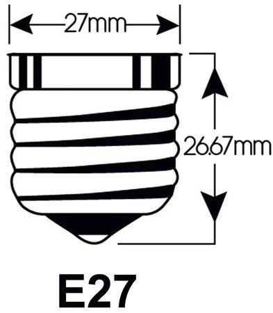 LEDLAMP INTEGRAL E27 4W 2700K WARM WIT -LAMPEN EN VERLICHTING ILGLSE27NC001-2