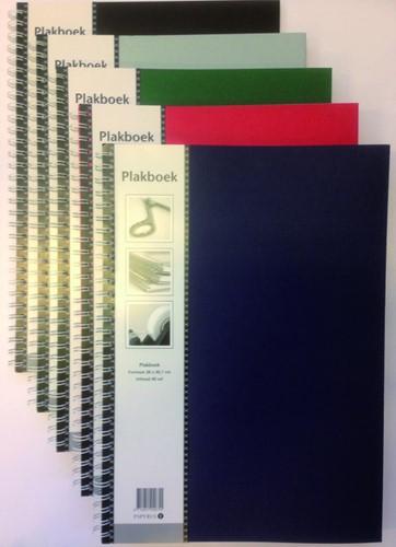 PLAKBOEK PAPYRUS 23X33CM NEUTRAAL 40V -PLAK/SCHETS/TEKENBOEKEN 894076 Plakboek neutraal 23x33cm 40vel zwart