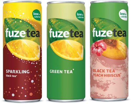 FRISDRANK FUZETEA GREEN TEA BLIKJE -KOUDE DRANKEN 209853 0.25L-2