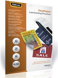 LAMINEERHOES FELLOWES EASYDISPLAY A3 -LAMINEERHOEZEN 5601803 2X80MICRON