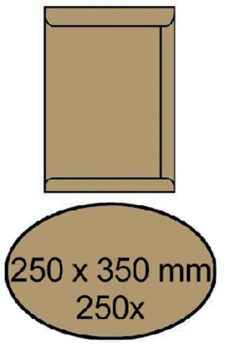 ENVELOP AKTE 250X350MM ZELFKLEVEND 90GR -AKTE-ENVELOPPEN 4480700 BRUIN