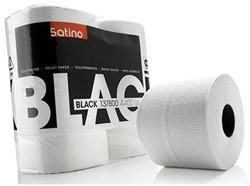TOILETPAPIER SATINO BLACK 2-LAAGS 400V -SANITAIR PAPIERWAREN 137800 WIT