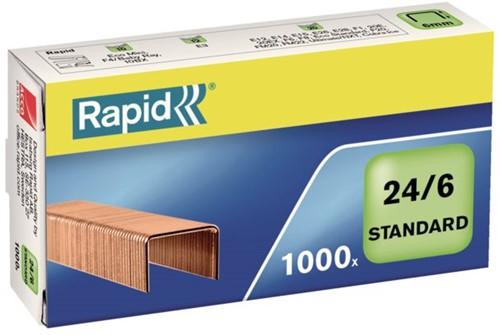 Nieten rapid 24/6 verkoperd standaard -N4855700 24855700 1000st