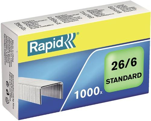 Nieten rapid standaard 26/6 gegalv -N4861300 24861300 1000st