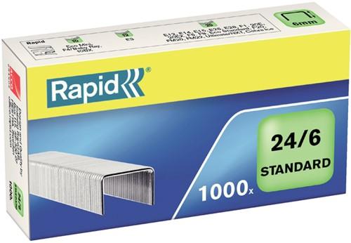NIETEN RAPID 24/6 GEGALV STANDAARD -NIETEN 24855600 1000ST