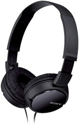 HEADSET SONY ZX110 OVERBAND ZWART -AUDIO HOOFDTELEFOONS SOHSZX110BK