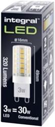 LEDLAMP INTEGRAL G9 3W 4000K DIMBAAR -LAMPEN EN VERLICHTING ILG9DC010 KOEL WIT