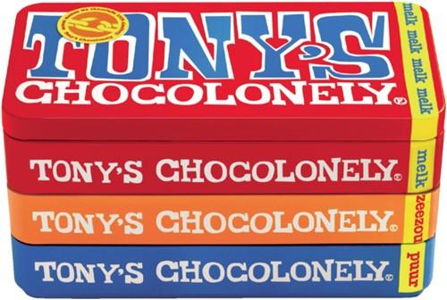 TONY'S CHOCOLONELY PUUR-MELK-KARAME -PREMIUM NLRSB180 ZEEZOUT 180GR