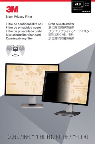 "PRIVACY FILTER 3M 24.0"" WIDE RATIO -BEELDSCHERMFILTERS PF240W1B 16.10"