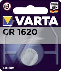 BATTERIJ VARTA CR1620 LITHIUM -BATTERIJEN KNOOPPCEL 6620101401 KNOOPBATTERIJEN