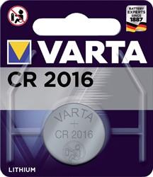 BATTERIJ VARTA CR2016 LITHIUM -BATTERIJEN KNOOPPCEL 6016101401 KNOOPBATTERIJEN