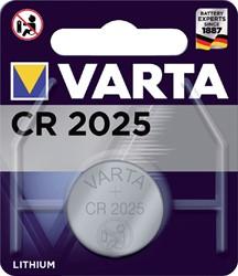BATTERIJ VARTA CR2025 LITHIUM -BATTERIJEN KNOOPPCEL 6025101401 KNOOPBATTERIJEN