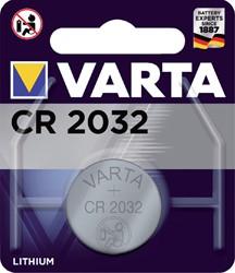 BATTERIJ VARTA CR2032 LITHIUM -BATTERIJEN KNOOPPCEL 6032101401 KNOOPBATTERIJEN