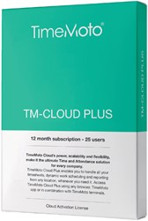 SAFESCAN TIMEMOTO TM-CLOUD+ 25 USER -TIJDREGISTRATIESYSTEMEN 125-0591 SUBSCRIBTION