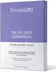 SAFESCAN TIMEMOTO TM-25 CLOUD USER -TIJDREGISTRATIESYSTEMEN 125-0592 EXPANSION