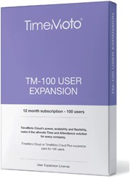SAFESCAN TIMEMOTO TM-100 CLOUD USER -TIJDREGISTRATIESYSTEMEN 125-0593 EXPANSION