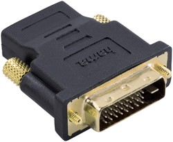 ADAPTER HAMA DVI/M-HDMI/F ZWART -KABEL MANAGEMENT 75034035