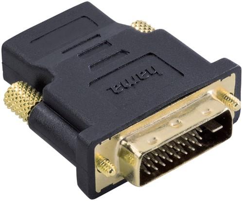 ADAPTER HAMA DVI/M-HDMI/F ZWART -KABEL MANAGEMENT 75034035