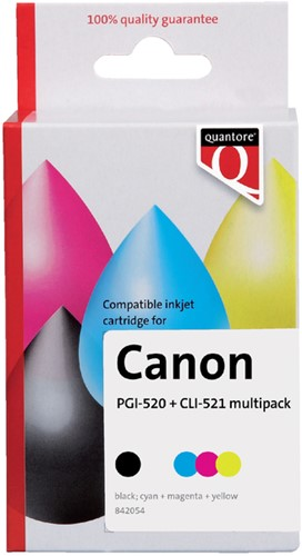 Inkcartridge quantore can pgi-520 -Q10268pr K10268PR Cli-521 2 zw 3 kl