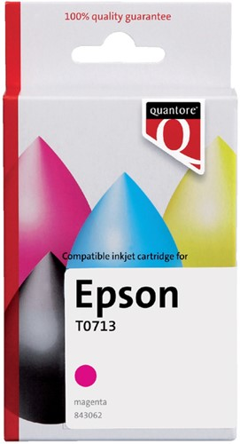 INKCARTRIDGE QUANTORE EPS T071340 ROOD -QUANTORE INKJET K20390PR Inkcartridge proprint eps t071340 rood