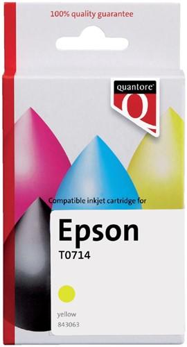 INKCARTRIDGE QUANTORE EPS T071440 GEEL -QUANTORE INKJET K20391PR Inkcartridge proprint eps t071440 geel