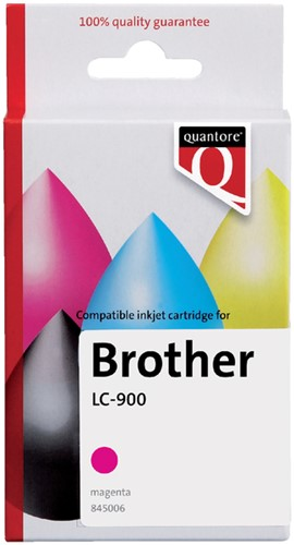 INKCARTRIDGE QUANTORE BRO LC-900 ROOD -QUANTORE INKJET K12264PR Inkcartridge proprint bro lc-900 rood