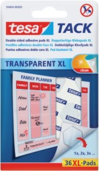KLEEFPAD TESA TACK XL TRANSPARANT 36 -PLAKBAND EN PLAKBANDHOUDERS 59404-00000-00 STUKS