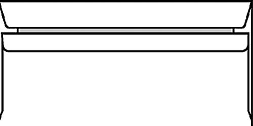 ENVELOP BANK C5/6 114X229 ZK+STRIP 80GR -BANKENVELOPPEN 1725700 WIT