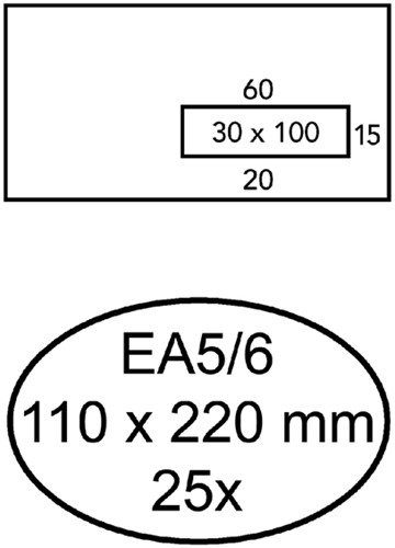 ENVELOP QUANTORE VENSTER VR EA5/6 -HUISMERK ENVELOPPEN 158039 110X220 80GR ZK