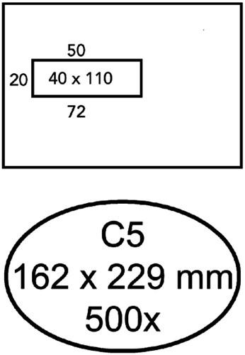 ENVELOP QUANTORE VENSTER C5 VL40 ZK -HUISMERK ENVELOPPEN 8982268 80GR WIT