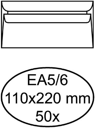 ENVELOP QUANTORE BANK EA5/6 110X220 -HUISMERK ENVELOPPEN 158125 80GR ZK WIT