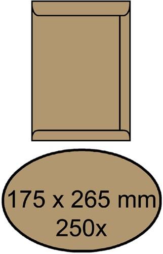 ENVELOP AKTE 175X265MM ZELFKLEVEND 90GR -AKTE-ENVELOPPEN 4452701 BRUIN
