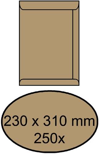 ENVELOP AKTE 230X310MM ZELFKL 90GR -AKTE-ENVELOPPEN 4465701 BRUIN