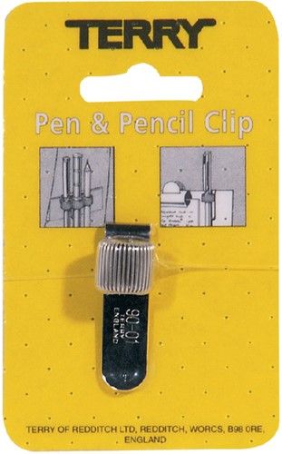 TERRY CLIP VOOR 1 PEN/POTLOOD -ETUIS TE-90-01-4