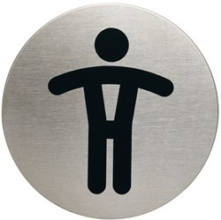 INFOBORD PICTOGRAM DURABLE WC HEREN -PICTOGRAMMEN 490523 ROND 83MM