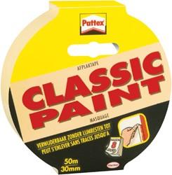 AFPLAKTAPE PATTEX 30MMX50M CLASSIC -PLAKBAND EN PLAKBANDHOUDERS 773363 CREME