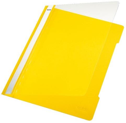 SNELHECHTER LEITZ 4191 A4 PVC GEEL -SNELHECHTMAPPEN 41910015 Snelhechtmappen