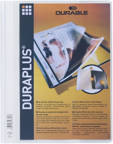 OFFERTEMAP DURABLE DURAPLUS 2579 WIT -SNELHECHTMAPPEN 257902 Mappenmetklem