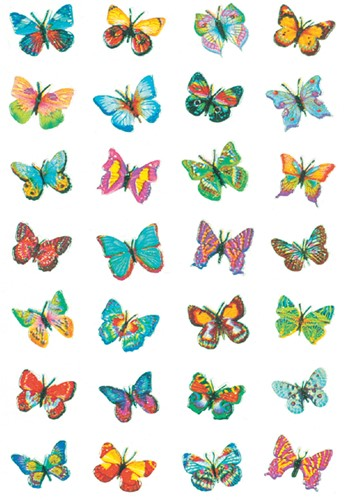 ETIKET HERMA 6819 VLINDER GLIMMER FOLIE -FUN ETIKETTEN 6819 Etiket herma 6819 vlinder glimmer folie