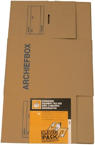 ARCHIEFDOOS CLEVERPACK VOOR ORDNERS -ARCHIEFDOZEN 530364 400X320X292MM-2
