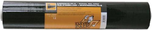 WIKKELFOLIE CLEVERPACK 500MM/300M 23MU -VERPAKKINGSMATERIALEN 530447 ZWART