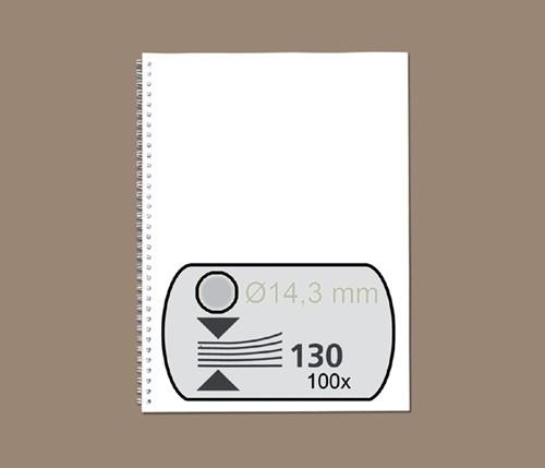 DRAADRUG GBC 14.3MM 34RINGS A4 ZILVER -BINDRUGGEN 34-RINGS RG810997 Draadbindrugge
