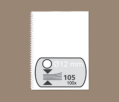 DRAADRUG FELLOWES 12MM 34RINGS A4 WIT -BINDRUGGEN 34-RINGS 53270 DRAADBINDRUGGE