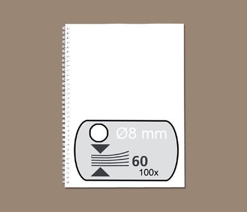 DRAADRUG GBC 8MM 34RINGS A4 WIT -BINDRUGGEN 34-RINGS RG810570 Draadbindrugge