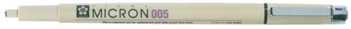FINELINER SAKURA PIGMA MICRON005 0.2MM -FIJNSCHRIJVERS WEGWERP XSDK00549 ZWART