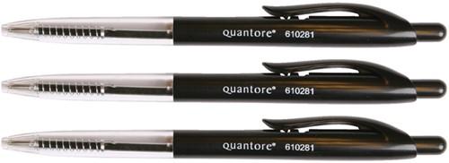 Balpen quantore drukknop zwart -Hb160600-1 KB160600-1