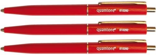 Balpen quantore drukknop en metalen -Ha8960-2 AA8960-2 Clip rood