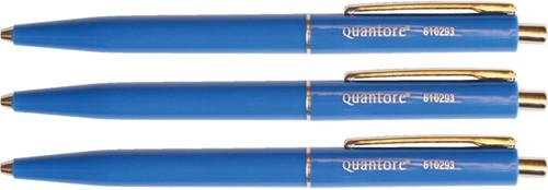 Balpen quantore drukknop en metalen -Ha8960-3 AA8960-3 Clip blauw
