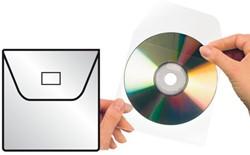 CD HOES 3L 127X127MM MET KLEP NIET -DATAMEDIA HOEZEN 10295 ZELFKLEVEND