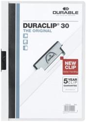 KLEMMAP DURABLE 2200 A4 PL/TR 3MM WIT -KLEMMAPPEN 220002 MAPPENMETKLEM